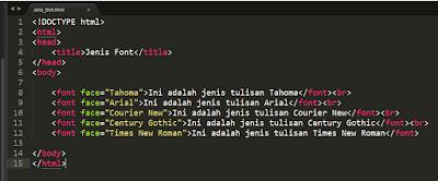 Cara Mengatur  Style Huruf (Font) di HTML