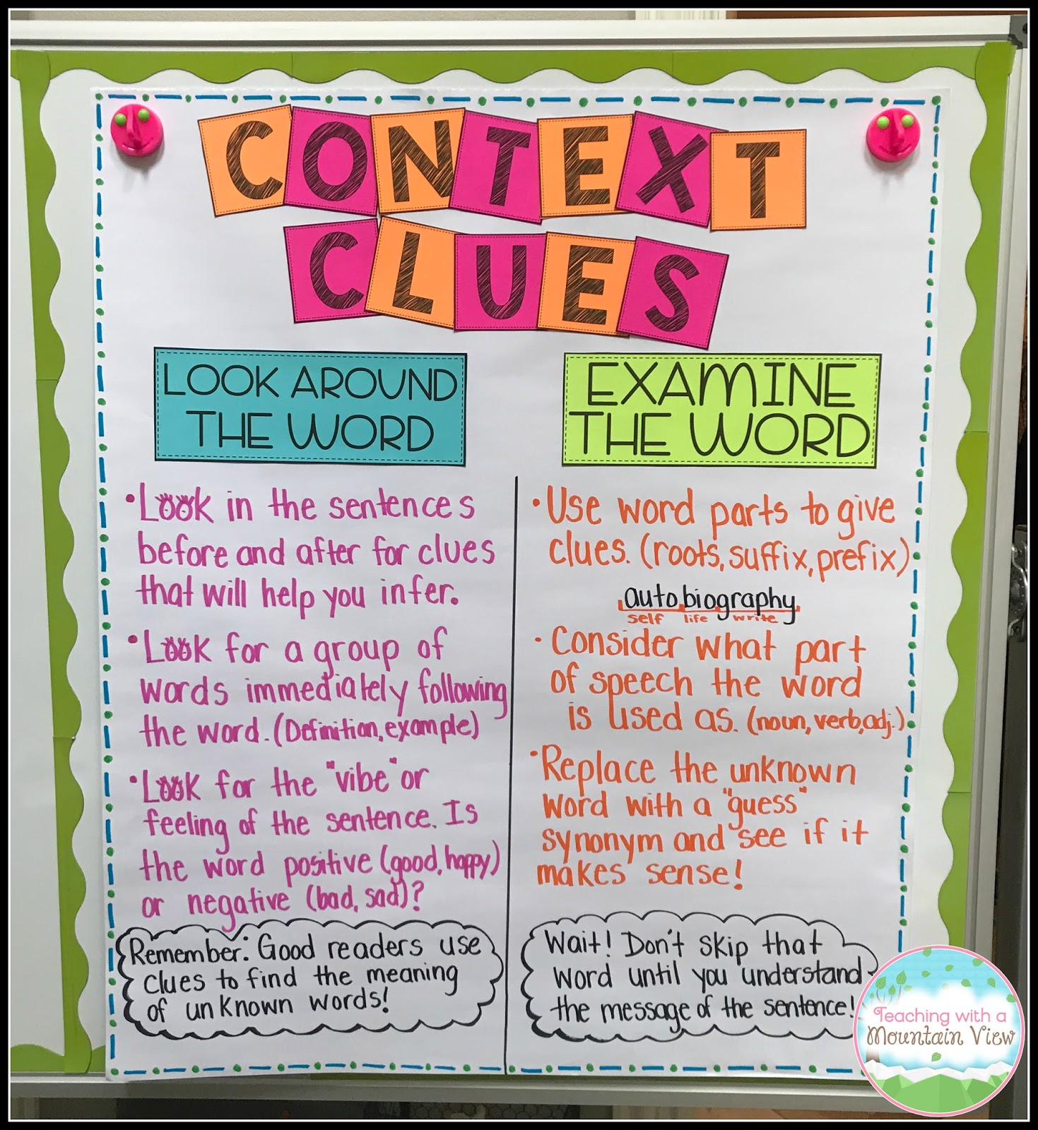 Context Clue Worksheet Part 5