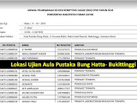 Jadwal dan Nama Peserta UJIAN CAT CPNS 2018 - Kabupaten Tanah Datar, Download Disini !!!