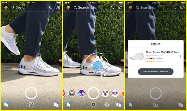 سناب شات يتيح للمستخدمين التسوق من أمازون عبر الكاميرا