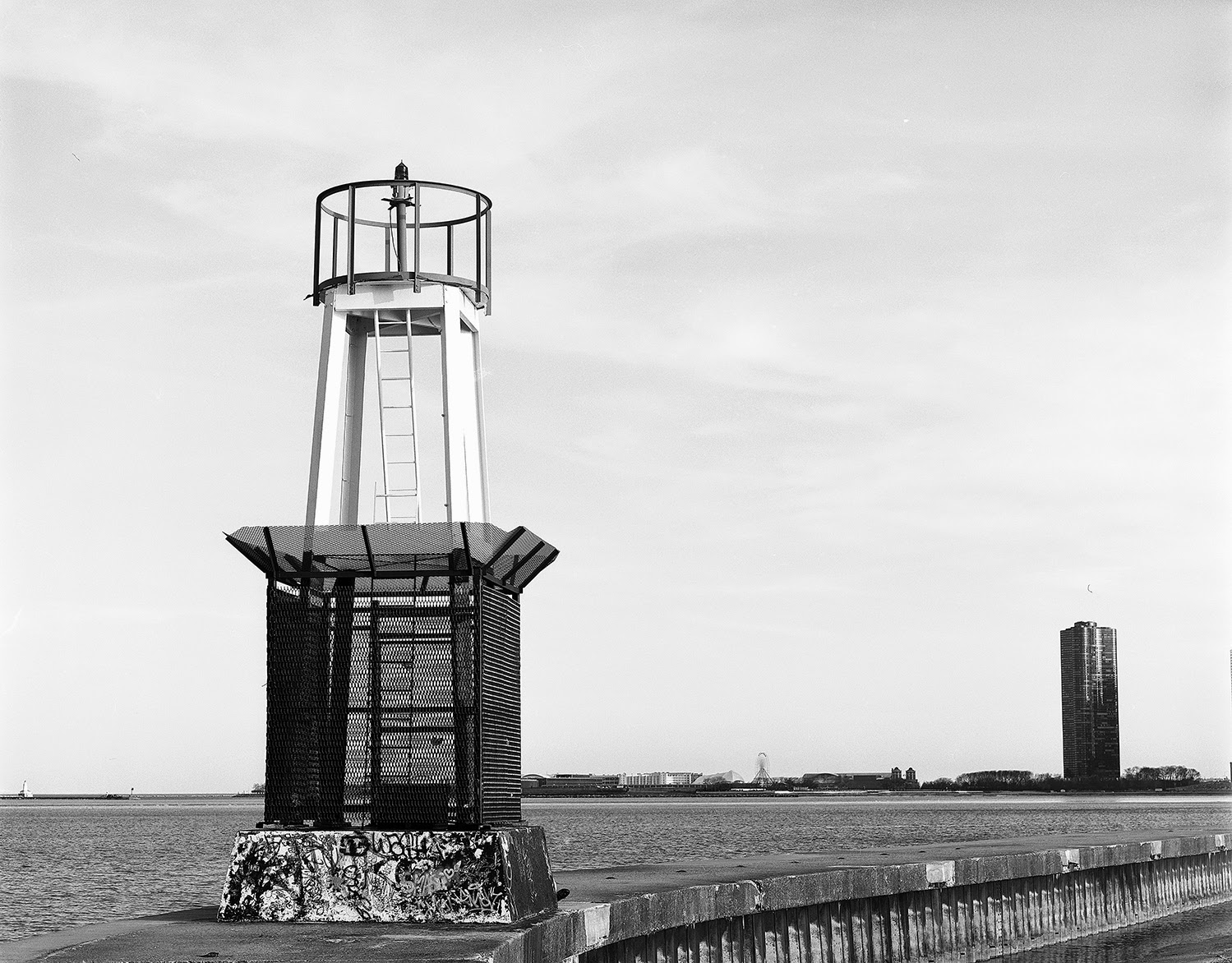 Chicago Large Format Photography: Lighthouse near North Ave