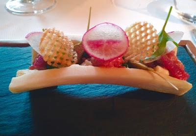 Le Chameau Bleu -  Blog Voyage Val d'Isère - Restaurant étoilé gastronomique Savoie L'atelier d'Edmond
