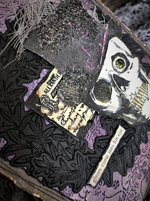 Sara Emily Barker https://sarascloset1.blogspot.com/2018/10/a-gleam-in-his-eye.html A Gleam In His Eye Tim Holtz Stampers Anonymous Sizzix Alterations Halloween Card 8