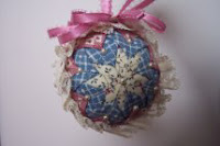 Patchwork Christmas ball ornaments