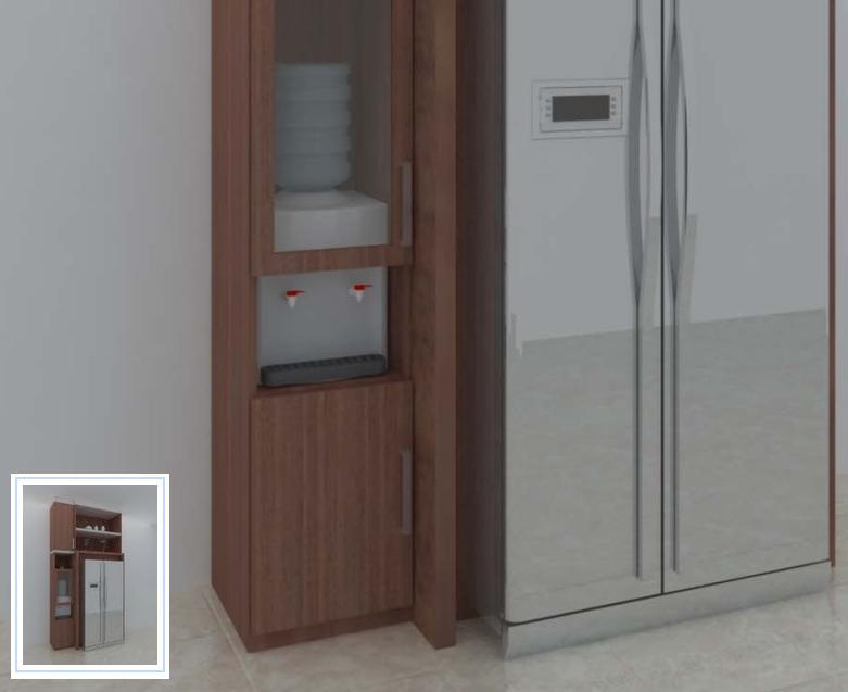 Jasa Desain Lemari Kulkas Dispenser - JASA INTERIOR 3D MURAH
