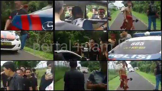 Sekelompok Pemuda Bersenjata Berani Razia Mobil Polisi, Netizen: Harga Diri Polisi Sudah Gosong!