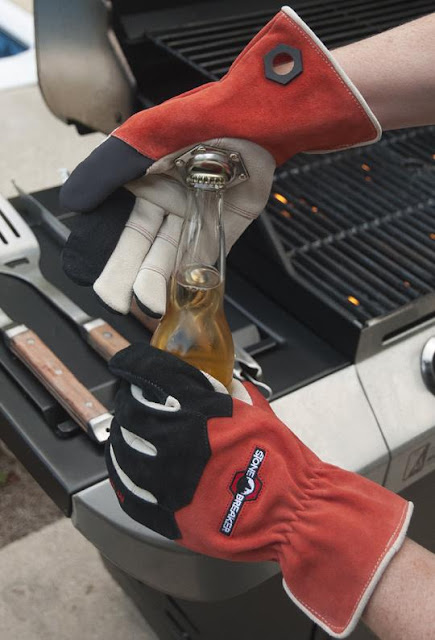 Tailgating Gloves With a Bottle Opener