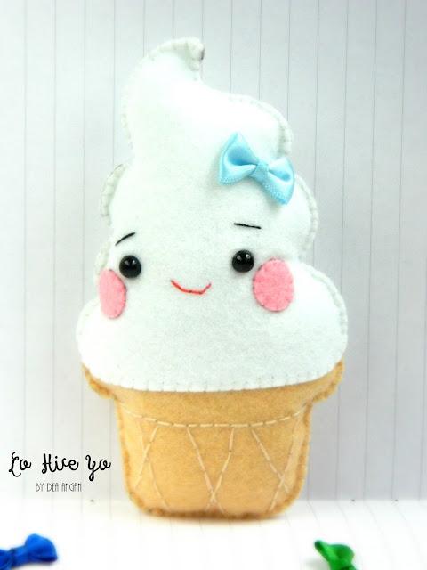Felt Kawaii Ice Creams