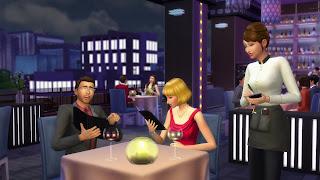 The Sims 4 Dine Out+Movie Hangout+Romantic Garden Stuff