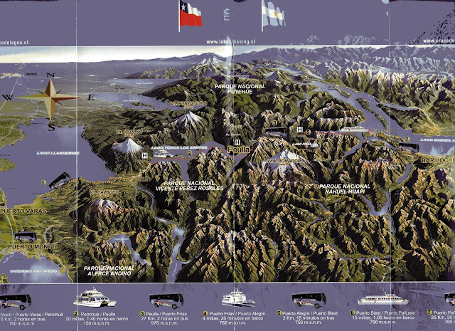 mapa do Cruce Andino