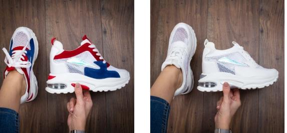 Sneakersi dama Arsima albi moderni la moda
