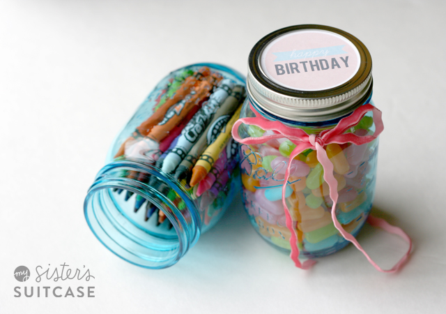 Mason Jar Tag Printables My Sister39s Suitcase SaveEnlarge Birthday Gift Ideas For Sister