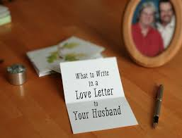 love letter for husband