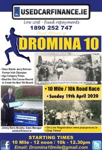 10 mile & 10k in N Cork - Sun 19th Apr 2020