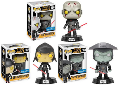 Walmart Exclusive Star Wars Rebels The Inquistors Pop! Series by Funko - The Inquisitor, Seventh Sister & Fifth Brother
