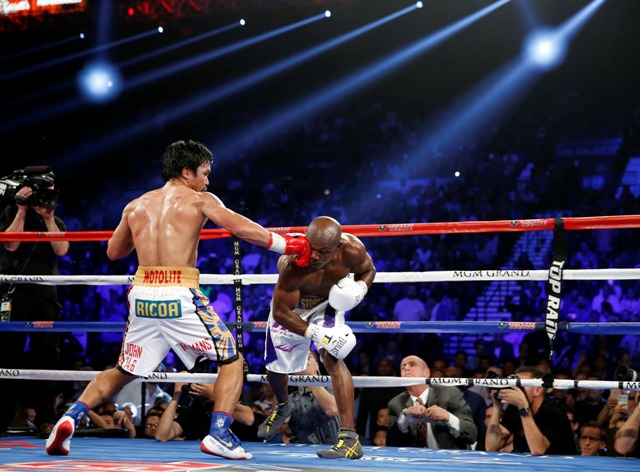 Manny Pacquiao's shoes during his fight with Bradley drew attention from the netizens!
