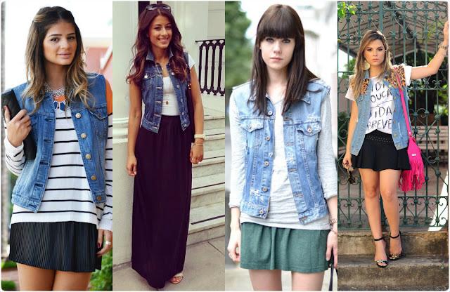 Resultado de imagem para como usar colete jeans