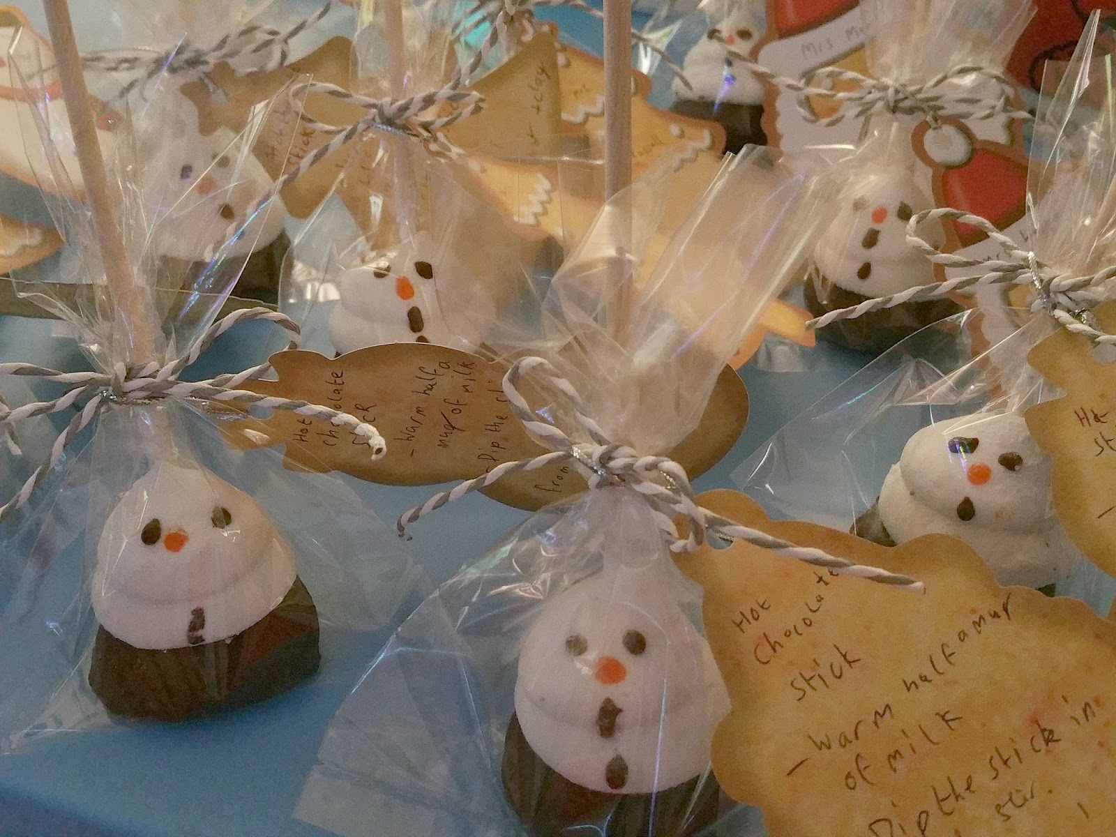 Christmas Teachers Gifts, Hot Chocolate Sticks, Snowman Marshmallow