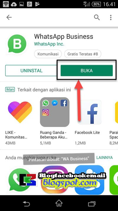 download dan instal whatsapp wa bisnis