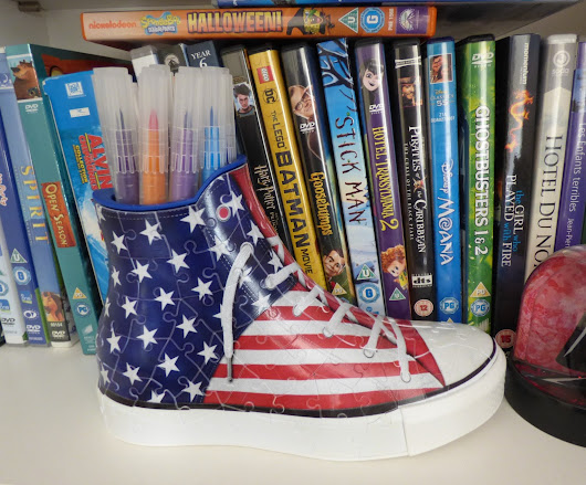 Ravensburger 3D American Flag Sneaker Puzzle (review + giveaway E: 7 August 2017)