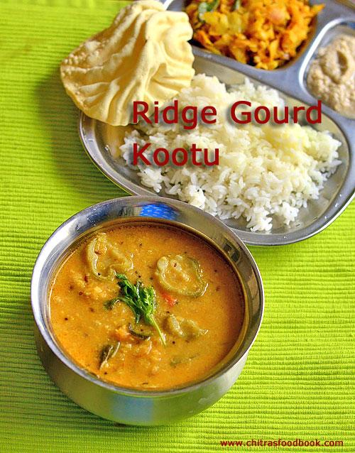 Ridge gourd kootu recipe