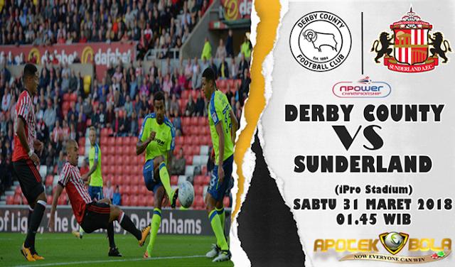 Prediksi Derby County vs Sunderland 31 Maret 2018