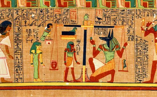 Ilustración de un libro egipcio de los muertos, c. 1275 aC