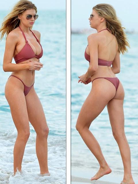 Hot girls Charlotte McKinney heats up in barely-there bikini 8