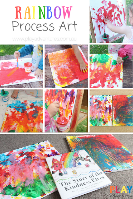 Rainbow Proccess Art - A beautiful art experience to compliment the book 'The Story of the Kindness Elves'