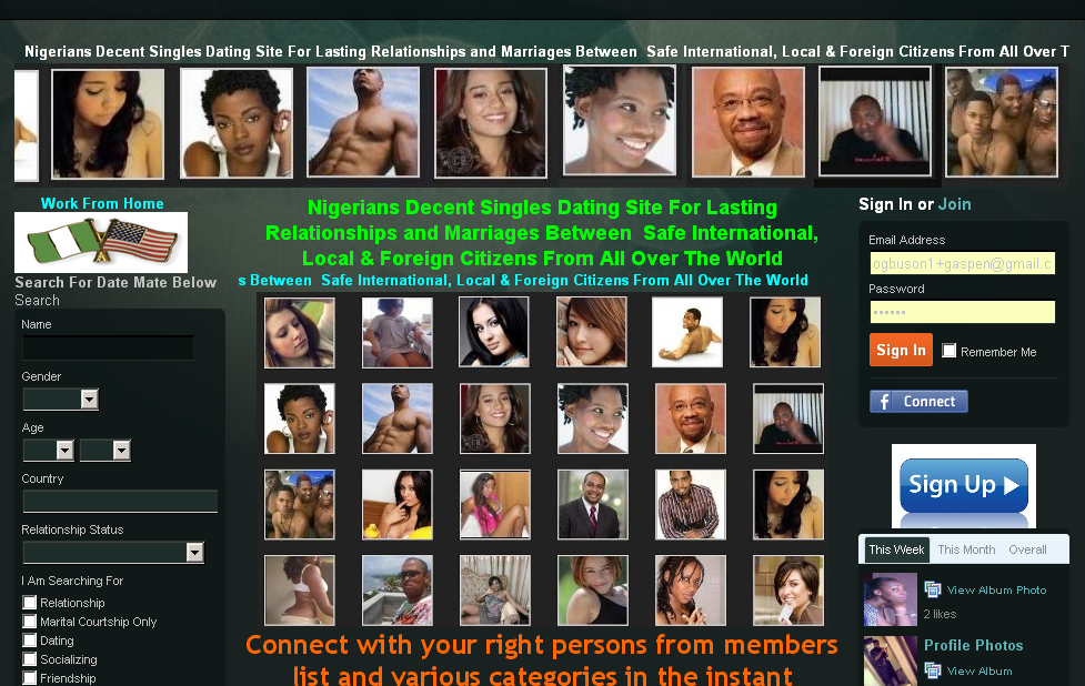 List of nigerian dating website