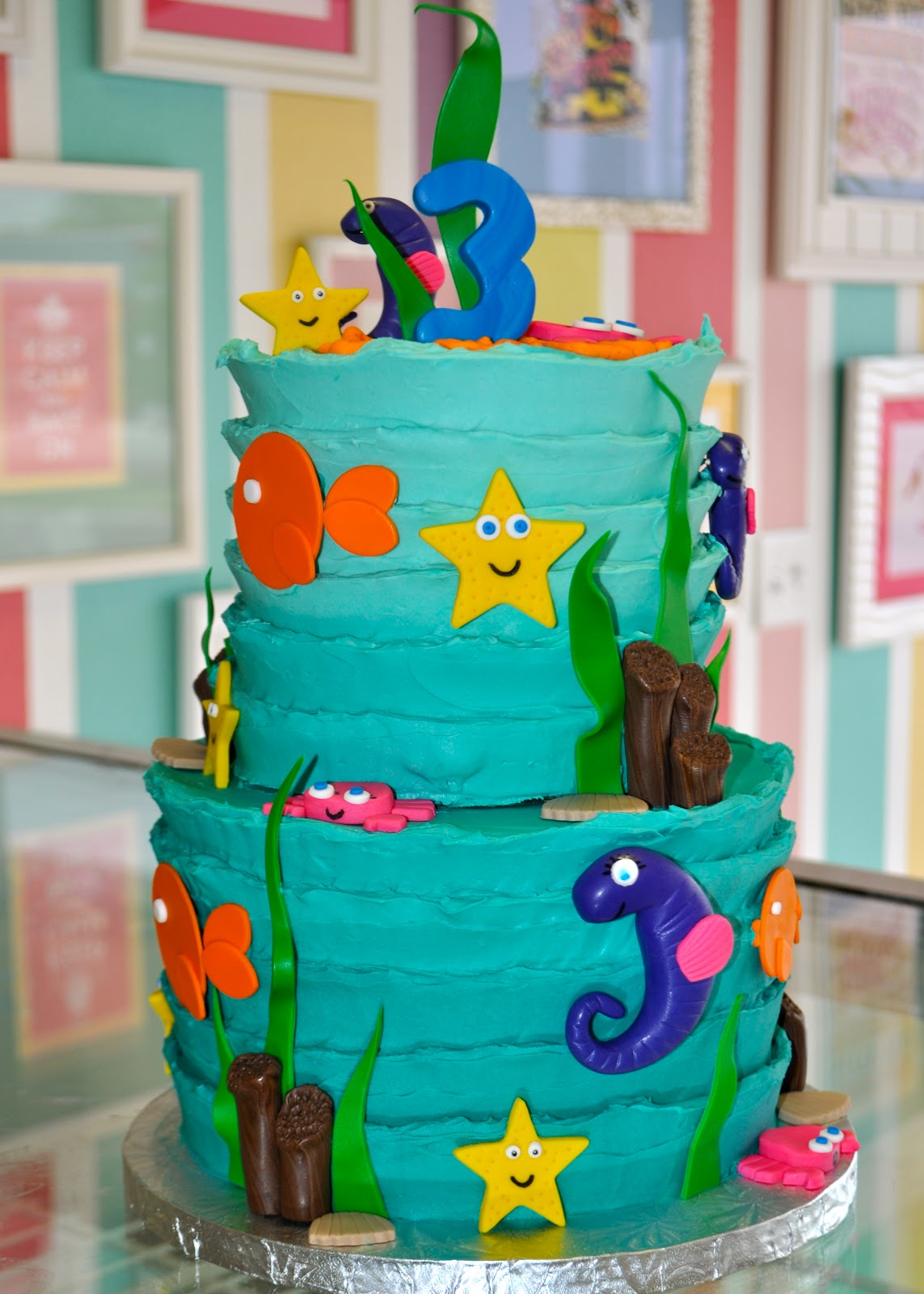 Coolest Cupcakes Under The Sea Birthday Cake