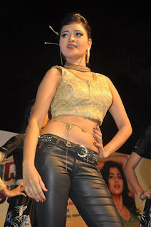 Shreya Vyas in a Golden Choli and leather Pants at ERAR Audio Launch Stunning Cute