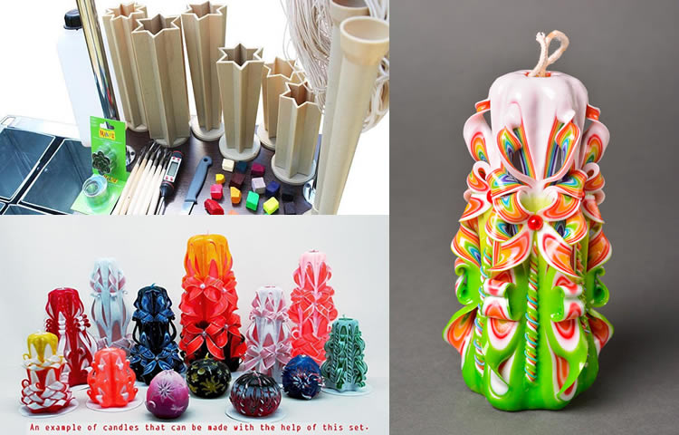 Get Everything for Making Colorful Candles with Master Class from Etsy