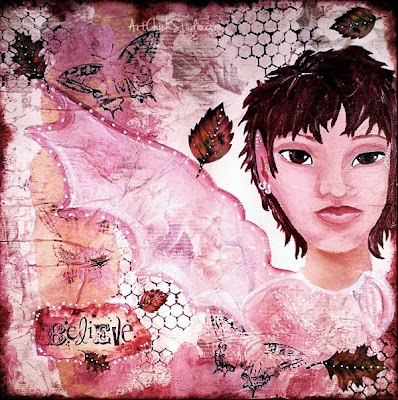 Fairy Autumn Mixed Media