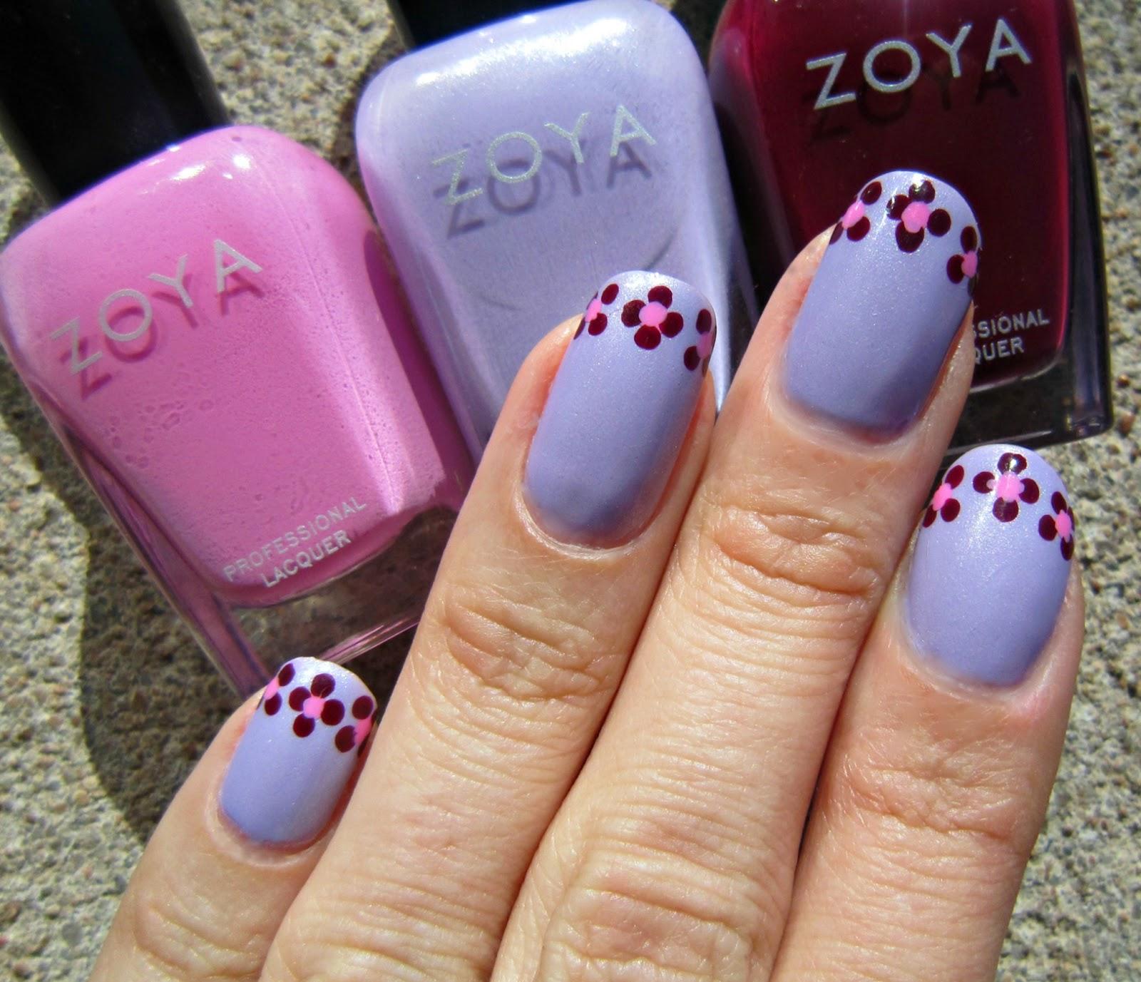 Nail Polish Designs: Concrete And Nail Polish: Zoya Dotted Flower French