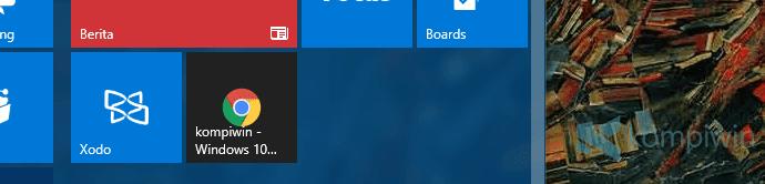 shortcut web start menu