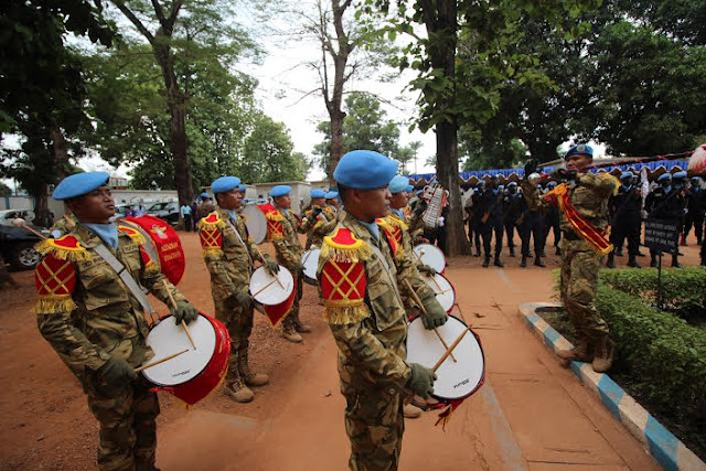 Lagu Mars TNI Meriahkan Peacekeeper Day di Afrika