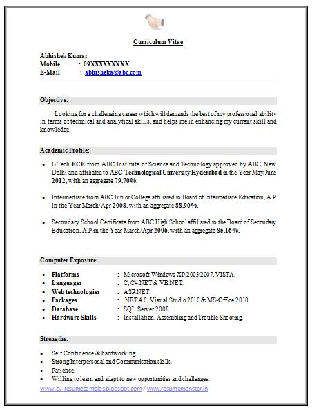 ece resume samples download
