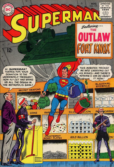Episode #385 Part III: Superman Family Comic Book Cover Dated August 1965: Superman #179!