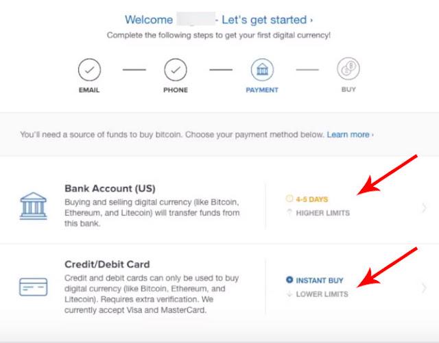 how buy Bitcoin in coinbase