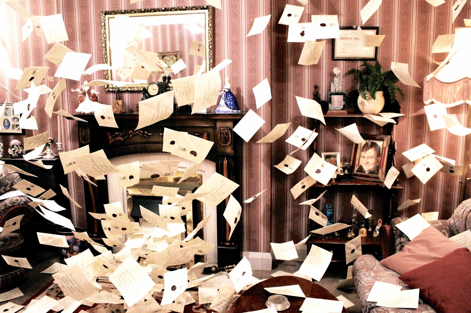 Room of Flying Letters at Harry Potter Studio Tour London