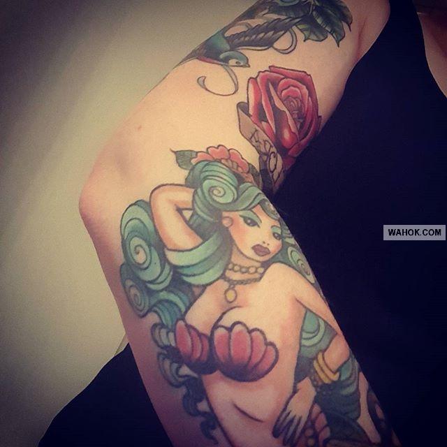 50 + Gambar Tattoo Putri Duyung / Mermaid Tattoos Paling Keren Dan Unik Di Lengan, Paha, Dada Dan Punggung Wanita Serta Pria