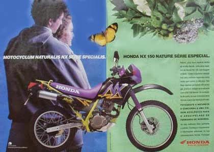 nx150 nature 92 - HONDA NX150 - INÍCIO DE UMA NOVA ERA