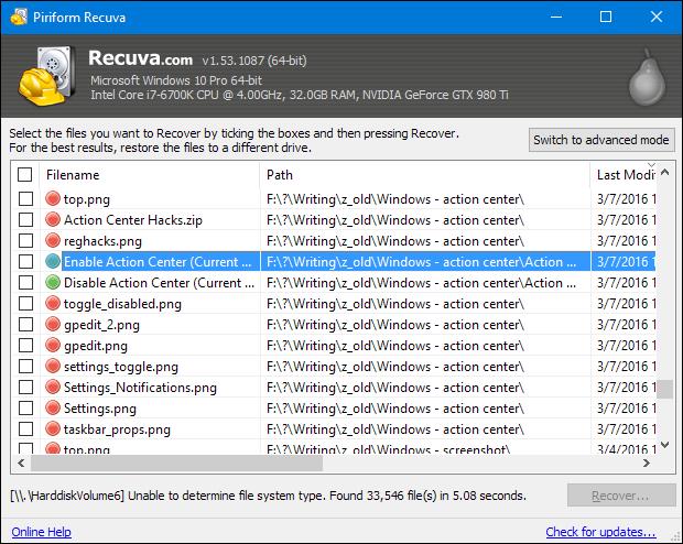 recuva data recovery