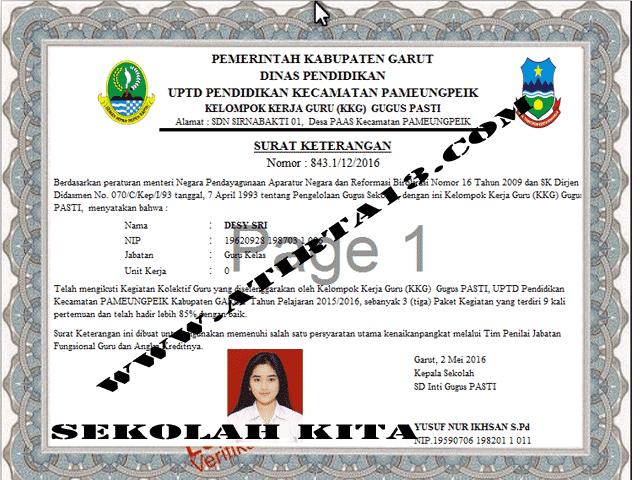 Aplikasi Cetak Piagam KKG | Contoh File Guru