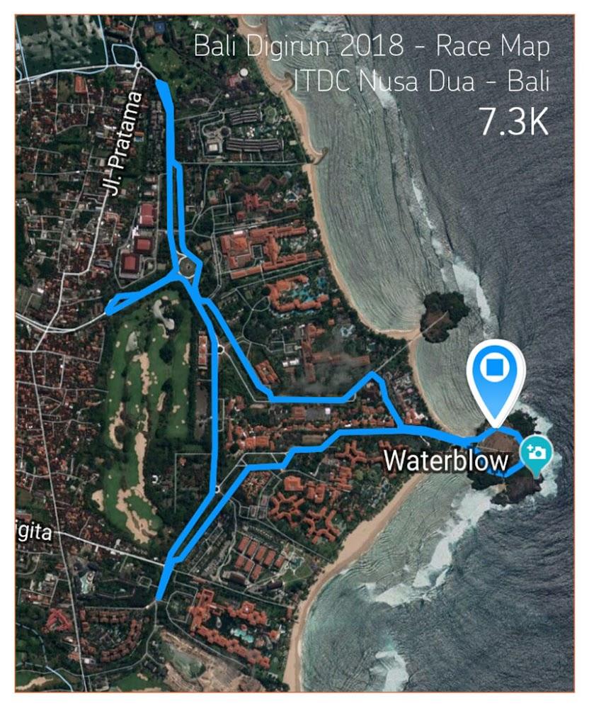 Bali Digi Run Route 2018