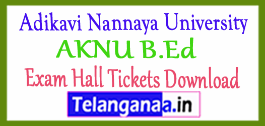 Adikavi Nannaya University AKNU B.Ed Exam Hall Tickets Download