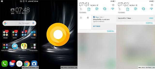 Tampilan menu Setting ZenFone 3 menggunakan Android 8.0