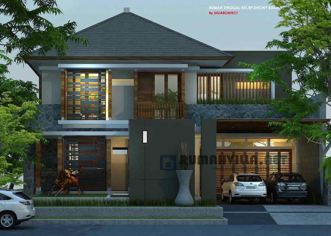 desain rumah 2 lantai hook 2