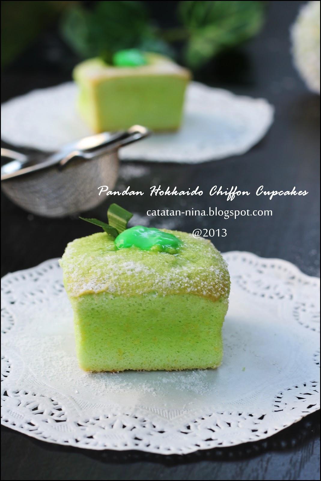 Pandan Hokkaido Chiffon Cupcakes Resep Masakan Tradisional